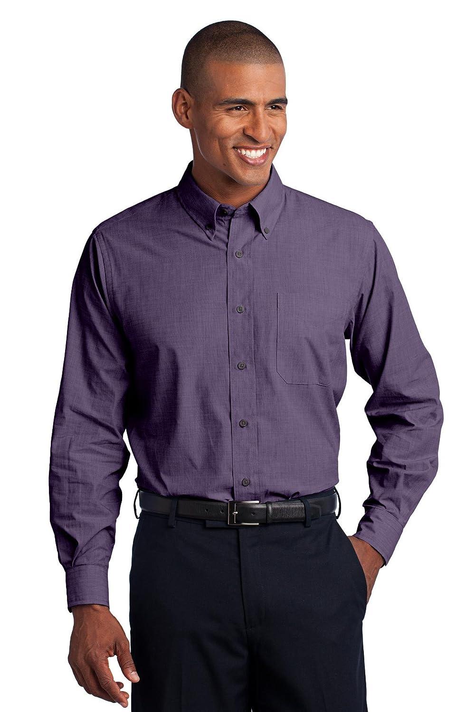 Port Authority Mens Tall Crosshatch Easy Care Shirt