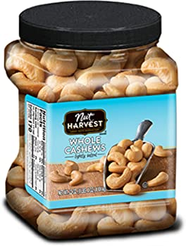 Nut Harvest 24oz Lightly Salted Whole Cashews