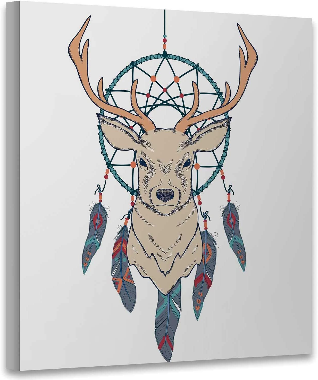 with Deer and Dream Catcher,Modern Home Decor to Hang Wall Decor for Living Room Decor Read to Hang 12x12