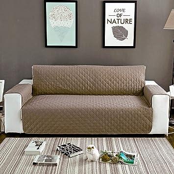 SearchI Fundas de Sofa Reversible 1 Plaza,Cubierta para Sofás Acolchado Cubre de Sofa Antideslizante Protector para Sofás Muebles contra Mascotas, ...
