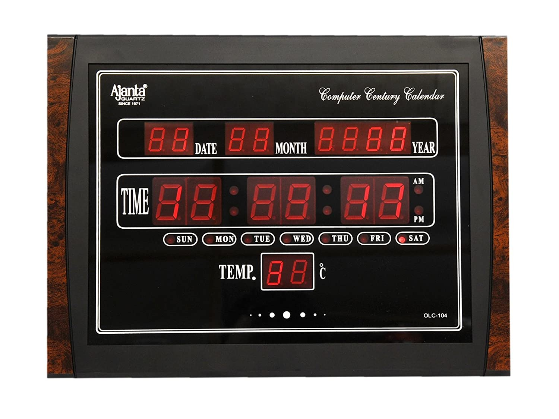 Buy Ajanta Plastic Digital Wall Clock 396 Cm X 296 31 Led Circuit Diagram Image Black Olc 104 Online At Low Prices In India
