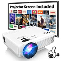 DR. J Professional HI-04 4500L Mini Projector Outdoor Movie Projector, 1080P Supported...