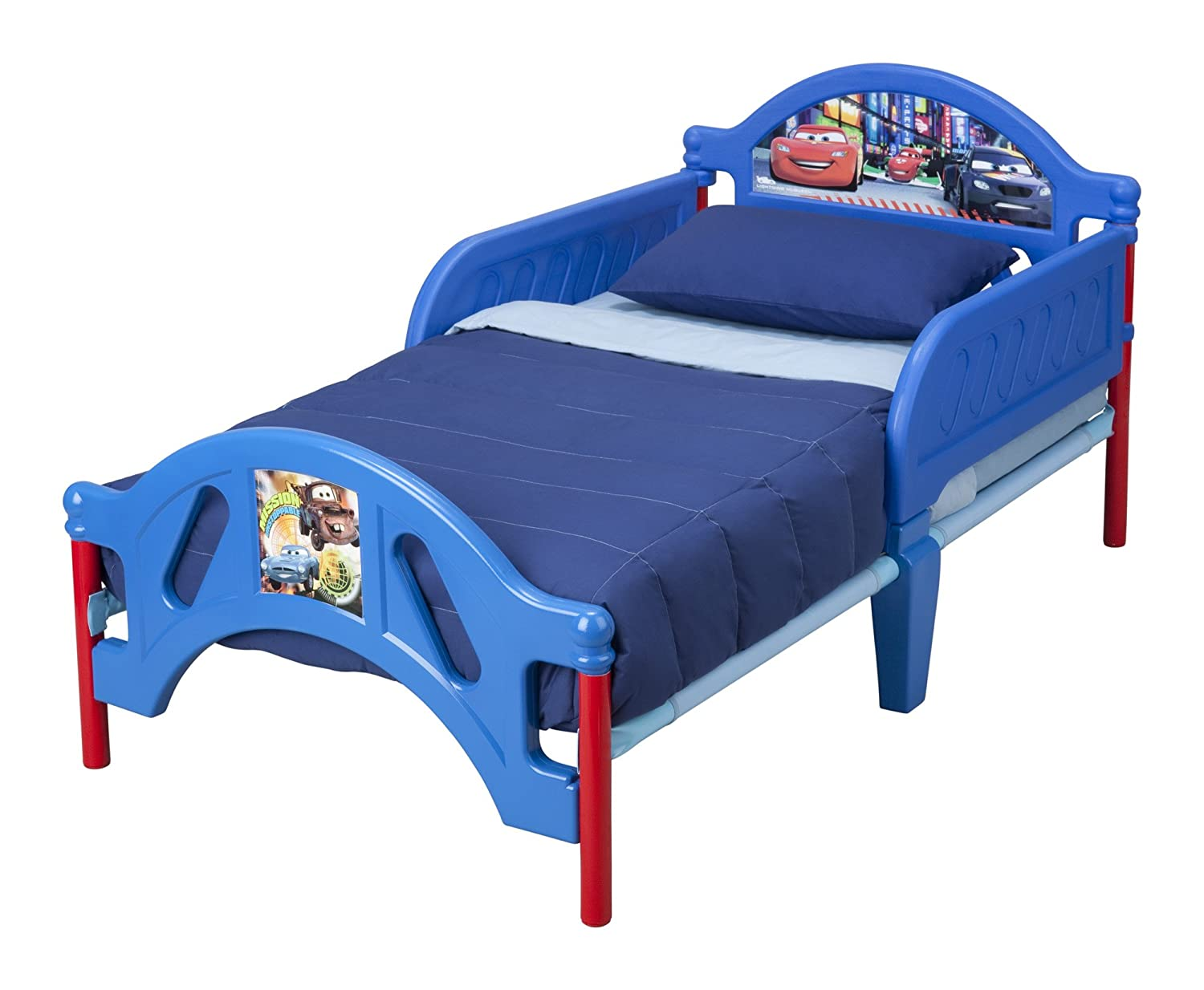 amazoncom delta children plastic toddler bed disneypixar cars baby