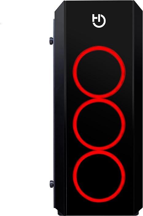 Hiditec NG-RX RGB Midi-Tower Negro - Caja de Ordenador (Midi-Tower, PC, SECC, Vidrio Templado, ATX,Micro-ATX, Negro, Juego): Amazon.es: Informática