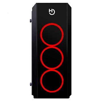 Hiditec NG-RX RGB Midi-Tower Negro Carcasa de Ordenador - Caja de Ordenador