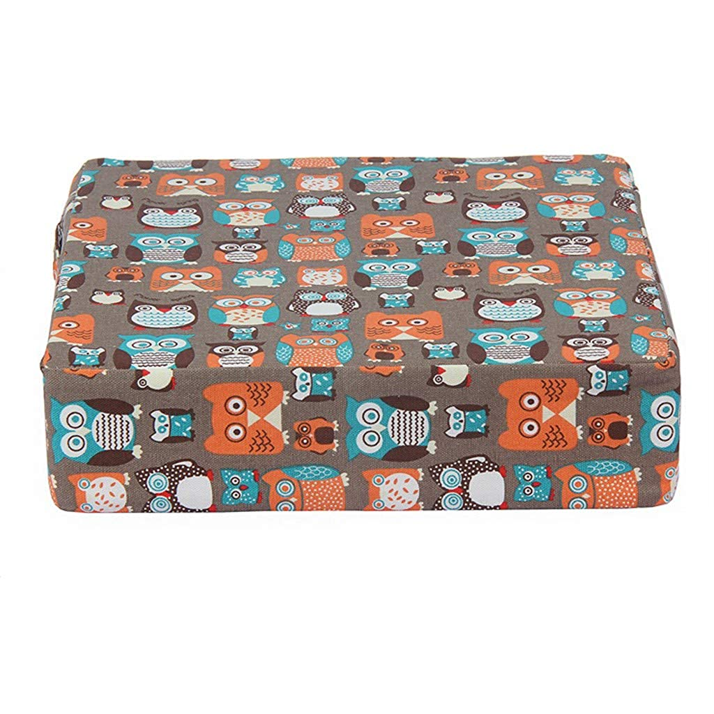 32.5 8cm Beige Yonlanclot Kinder Sitzerh/öhung Sitzkissen Tragbar Verstellbar Zerlegbar Boostersitze Esszimmerstuhl Erh/öHen Pad Cartoon Stil 32.5