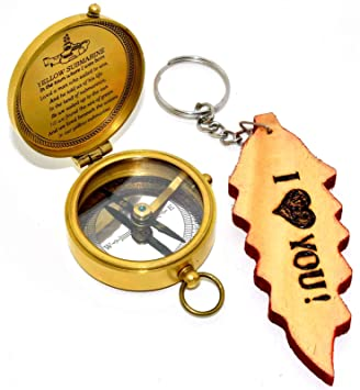 Amazon.com: Hello Nauticals Store - Brújula de latón macizo ...