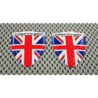 United Kingdom Union Jack Emblem Paar 3D Kuppel Aufkleber Aufkleber
