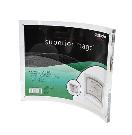Pmma personalizado foto portaretratos acrilico curvo montado en la pared marco de fotos,transparente, 21.6x27.9cm: Amazon.es: Hogar