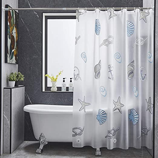 Anime Seashell Peva Shower Curtain Or Liner 71 X71 With Hooks No Magnets Set Bathroom Curtains Waterproof Kitchen Dining