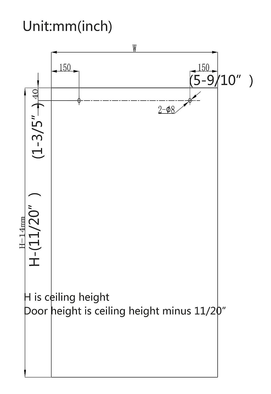 Amazon.com: DIYHD 8FT Ceiling mount sliding barn wood door track ...