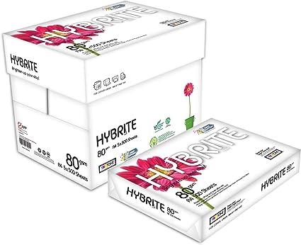 HYBRITE Papel Multiusos A4 Para Impresora Pack 2500 Folios 80gr ...