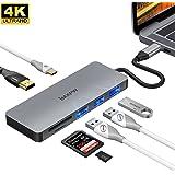 USB TYPE C ハブ パススルー充電/4KHDMI/ USB3.0*1/USB2.0*2/SD・Micro SD カードリーダー、OTG対応、 MacBook Pro ハブ Type c HDMI変換 MacBook HDMI変換