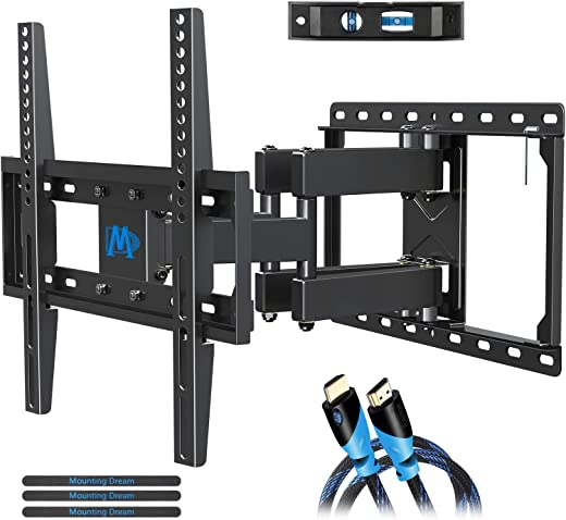 Mounting Dream UL Listed TV Mount TV Wall Mount with Swivel and Tilt for Most 32-55 Inch TV, Full Motion TV Mount with Articulating Dual Arms, Max…