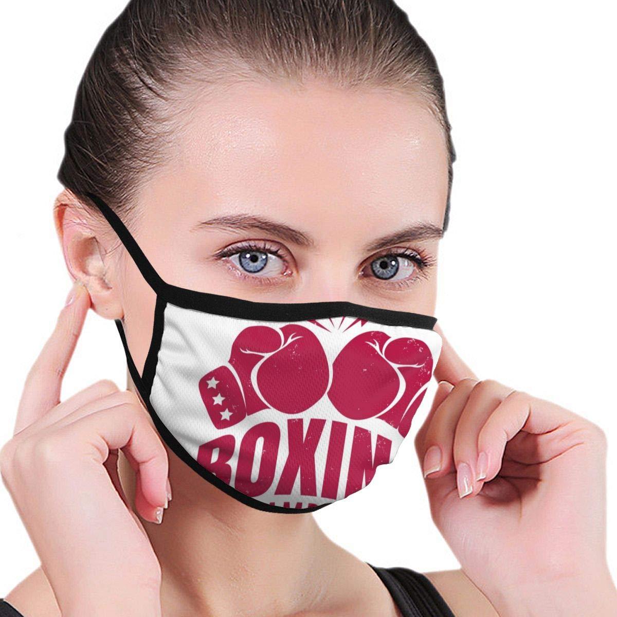 Vector Vintage Emblem para un boxeo con dos guantes Unisex ajustable lavable máscara facial antipolvo