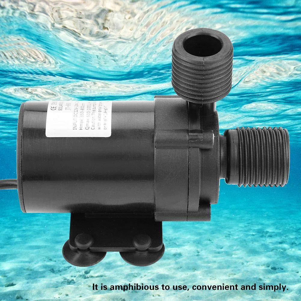 Mini bomba de agua, Mini DC bomba de agua sin escobillas para calentador de agua solar DC 24V (-40 ℃ ~ 100 ℃): Amazon.es: Bricolaje y herramientas