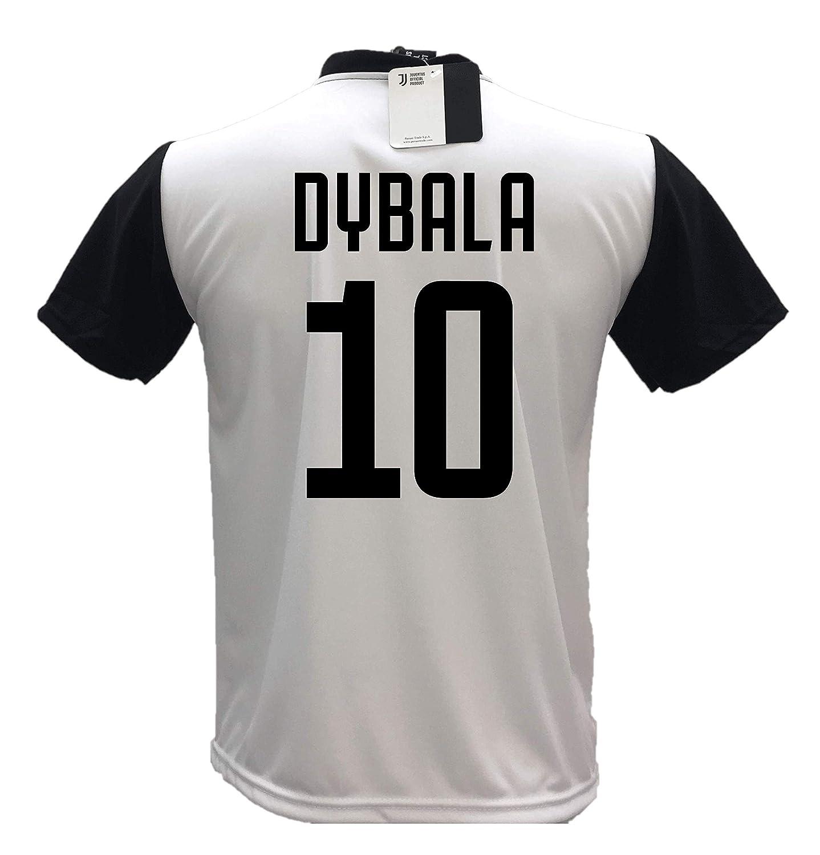 Pantaloncino Bianco Personalizzabile con Numero 10 Replica autorizzata 2018-2019 Taglie da Bambino e Adulto Completo Maglia Juventus bianconera Paulo Dybala 10 Joya