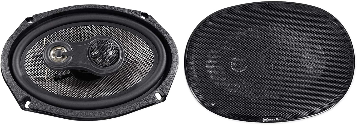 American Bass 6x9 3-Way Coaxial Speakers