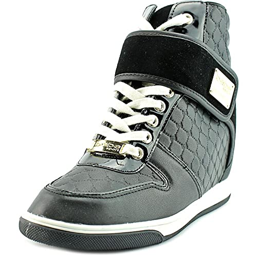 77d16004dd4 Bebe Womens Colby High Top Lace Up Wedge Sneaker  Amazon.ca  Shoes ...