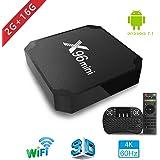 2018 Smart TV Box - Aoxun X96MINI Android 7.1 TV Box mit Mini Keyboard, 2GB DDR3 / 16GB EMCC, S905W Quad-Core CPU, 4k2k H.265, 100M LAN, unterstützt 4K