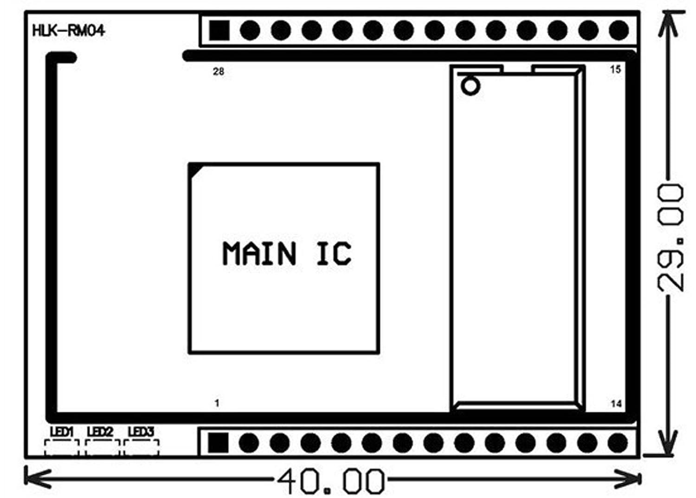 HI-Link RS232 RS485 Intern//eingebauter Antenne WiFi-Modul mit HLK-RM04 Test Board Startkit