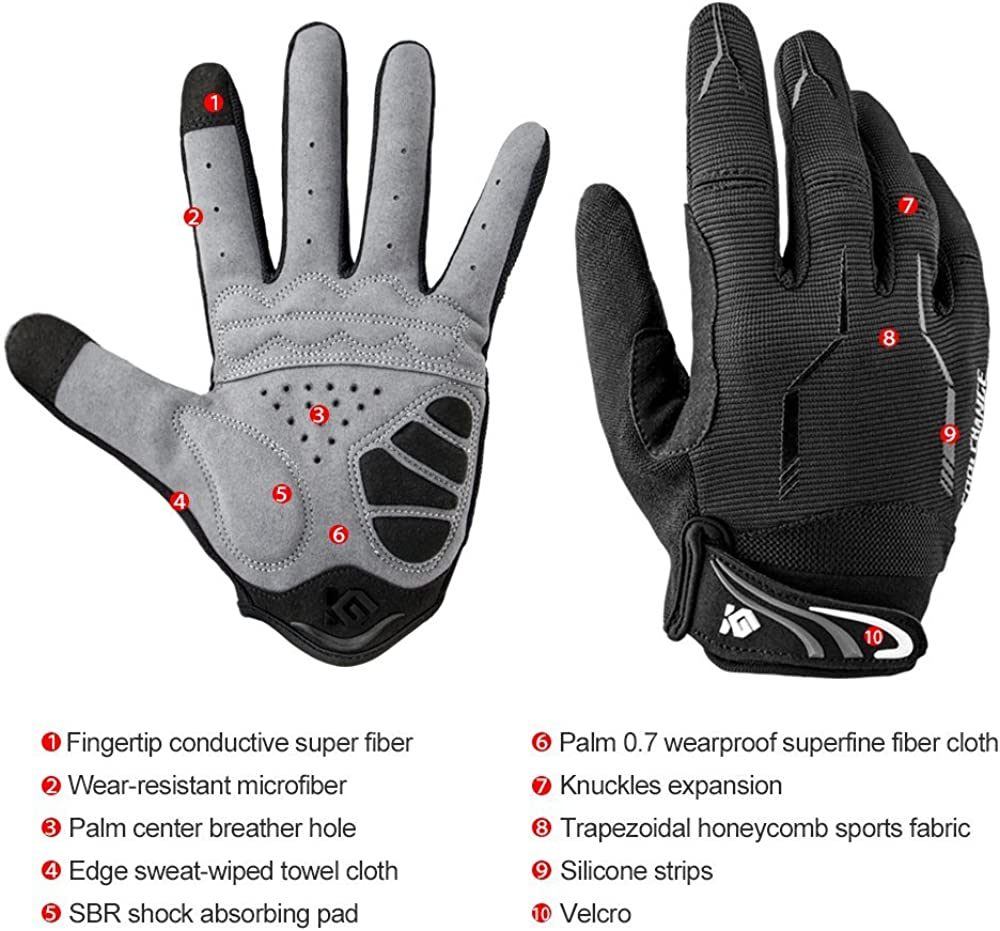 Cool Change Full Finger Bike Gloves Unisex Outdoor Touch Screen Cycling Gloves Road Mountain Bike Bicycle Gloves