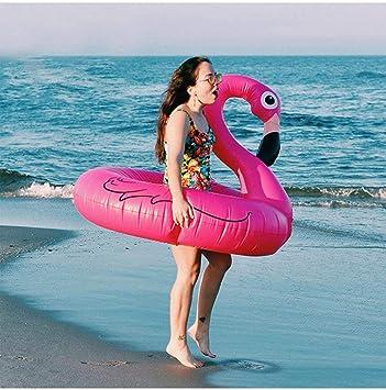 Kinderbadespaß Aufblasbarer Schwimmring Flamingo aufblasbar Schwimmtier Badetier pink Sommer