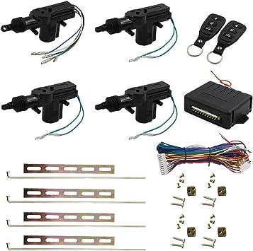 uxcell Car Remote Central Kit Door Lock Locking Keyless Entry System 12V