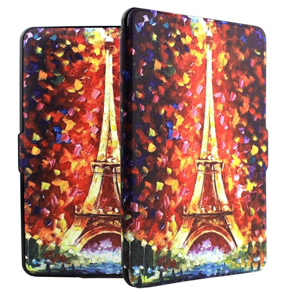 Ropada Painting tower Case for Kindle Paperwhite Ereader 6'' PU Leather Smart Covers for Kindle Paperwhite 2017