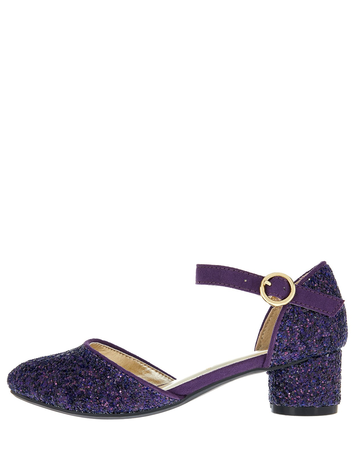 Accessorize Gloria Glitter Two Part Shoes - Girls - US 12 Shoe