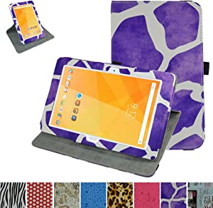 "Acer Iconia One 10 B3-A20 Rotating Case,Mama Mouth 360 Degree Rotary Stand with Cute Cover for 10.1"" Acer Iconia One 10 B3-A20 Android Tablet,Giraffe Purple"