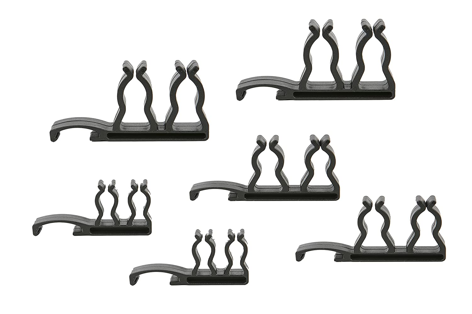 Olsa Tools Dual 1 4 3 8 1 2 Side Mount Ratchet Extension Holders | 6 Pc Set 2Pc of each size |Holds 6 Ratchets or Extensions| To Be Used on Socket Rails