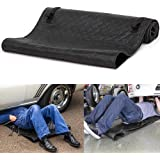 28x60 Inch Black Car Mat Magic Creeper Pad Black Automotive Creeper Rolling Pad for Working On The Ground LEEGOAL Portable Automotive Creeper Rolling Creeper Pad Car Repair Tool Creeper Pad