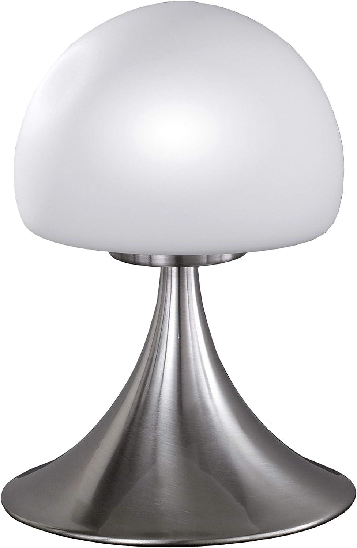 Wofi 857901640000 Barney Lampe de Table G9 28 W Nickel Mat 22 cm
