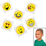 Emoticon Emoji Smiley Face Tattoo Assortment - 72 pc