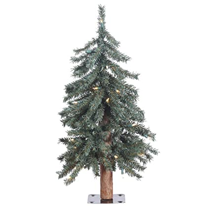 40721151a74ff Image Unavailable. Image not available for. Color  Vickerman B907321 Prelit  Natural Bark Alpine Artificial Christmas Tree ...