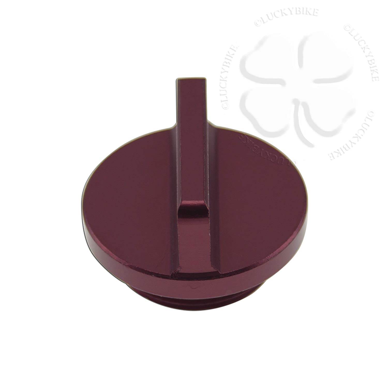Oil Cap - Kawasaki - M30 x P-1.5 - CNC Anodized - Golden LuckyBike