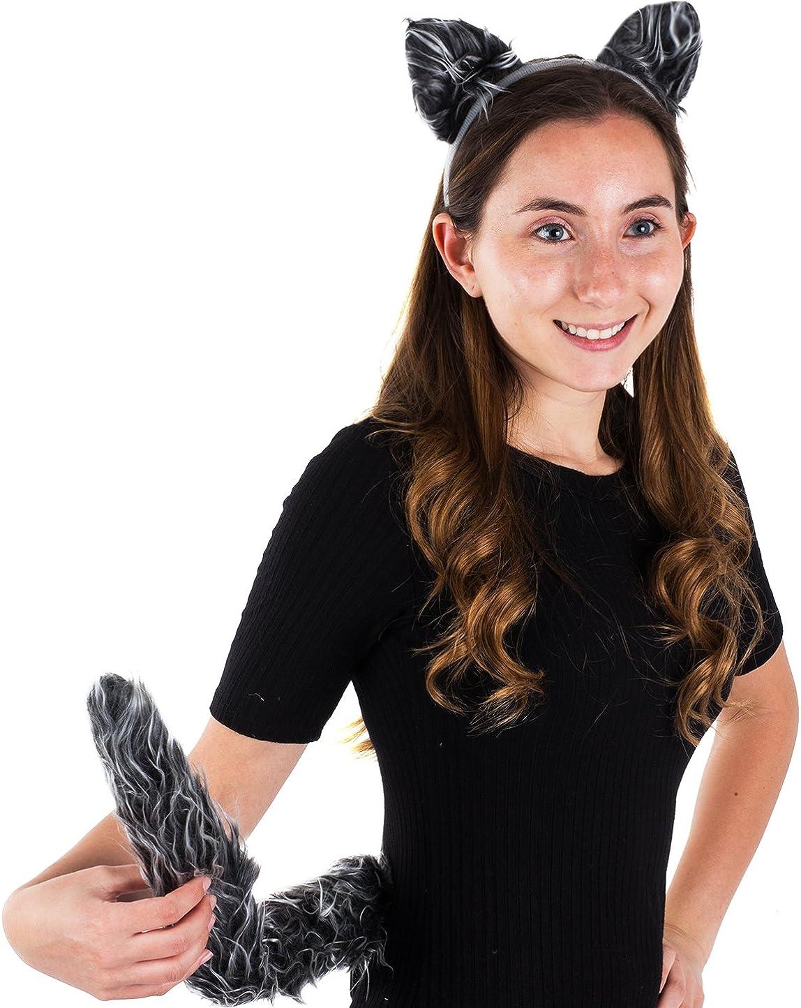 New Werewolf Ear/'s Head Band Fancy Dress Party Halloween 7201