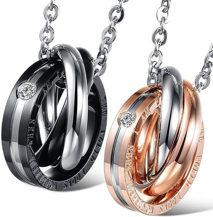 ejemplo de dos collares y anillos para parejas