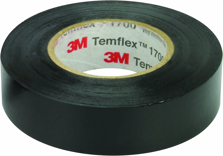 "Car Audio Alarm GPS 4 Rolls 3M Temflex Black Vinyl Electrical Tape 3//4/"" x 60 ft"