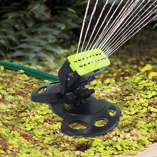 chalkalon Aspersor de Riego de Jardín, Aspersor de Césped con ángulo de Pulverización de Cabeza Ajustable y Control de Flujo de Agua para Césped Patio Riego de Jardín: Amazon.es: Hogar