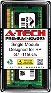 A-Tech 4GB RAM for HP G7 G7-1150US | DDR3 1333MHz SODIMM PC3-10600 204-Pin Non-ECC Memory Upgrade Module