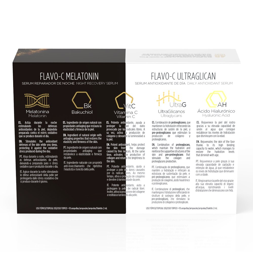 Amazon.com : Isdinceutics Flavo-C Melatonin + Ultraglican 10 +10 Ampollas : Beauty