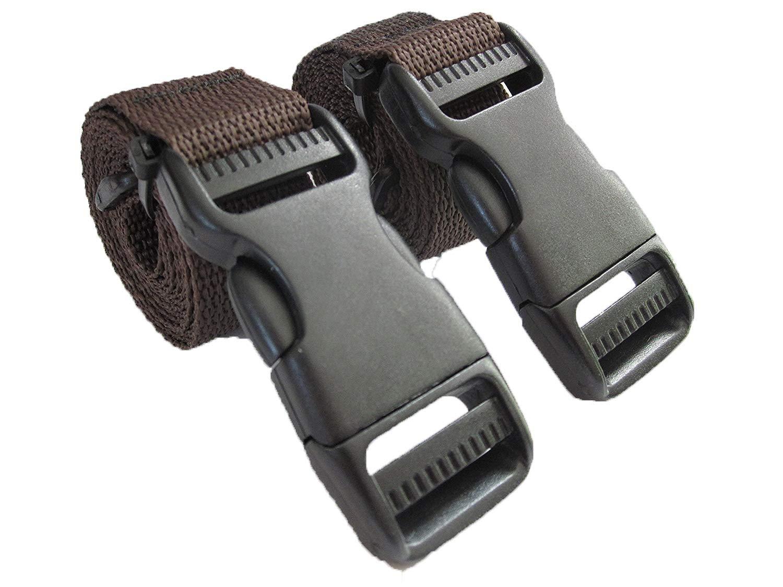 BuckleGear Molle Accessory Straps (Brown)