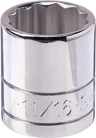 "SK Hand Tool USA 3//8/"" Drive 11//16/"" Shallow 12-point SuperKrome Chrome Socket NEW"