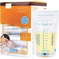 Perfection Premium Breast Milk Storage Bags | 200ml 120pk | Made in Korea | Pre-Sterilised | Temperature Indicator | BPA…