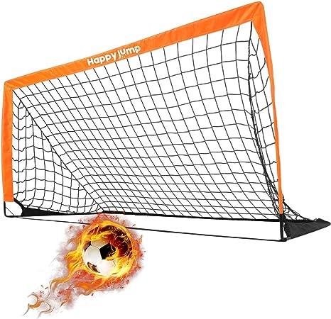 Pump /& Pegs Kids Child Ball Instant Pop Up Portable Football Soccer Goals Nets