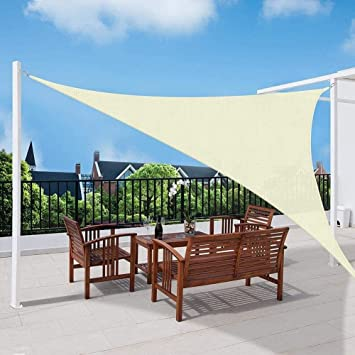 MGE 95% UV Sun Sail Shade Toldo Toldo Bloque Triángulo Impermeable con Cuerda for Patios al Aire Libre Jardín Pergola Piscina (Color : Beige, Size : 3.6X3.6X3.6M): Amazon.es: Hogar