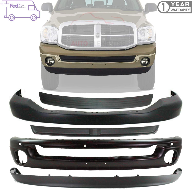 Steel Front Bumper Face Shell Bar Chrome For 2002-2008 Dodge RAM ...