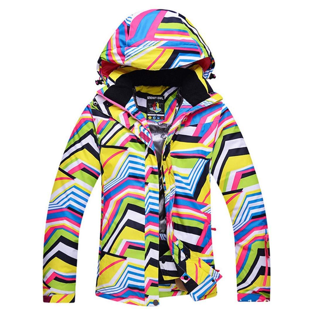 Cvthfyky Veste de Ski de Montagne Coupe-Vent Femme Manteau imperméable extérieur de Snowboard Chaud